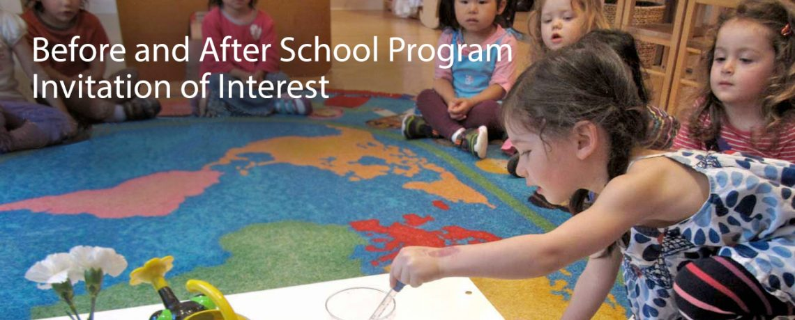Before and After School Program Invitation of Interest