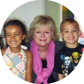 Delene with kids